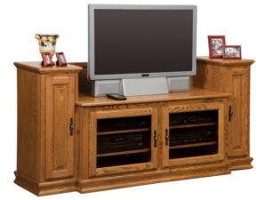 Heritage Small TV Stand with Towers