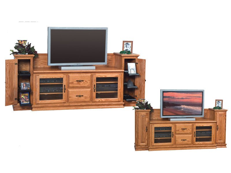 Heritage TV Stand with Towers