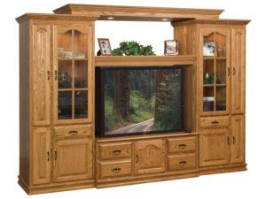Heritage TV Wall Unit with CD Pull-Outs