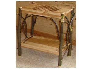 Hickory Checkerboard End Table