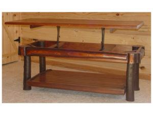 Hickory Coffee Table with Stained Lift-Top
