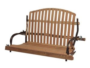 Hickory Deacon's Bench Style Swing