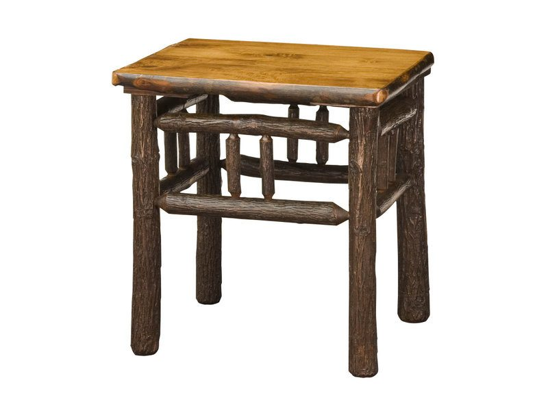 Amish Hickory End Table Lumberjack Collection   Brandenberry Amish Furniture