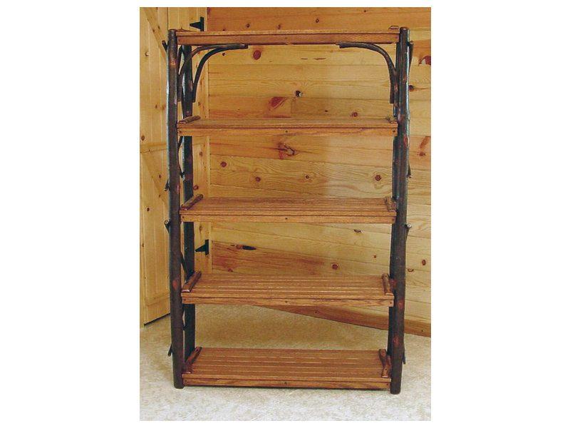 Hickory Five Shelf Stand