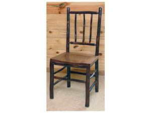 Hickory Game Table Chair with Solid Scoop Seat and Hickory Back