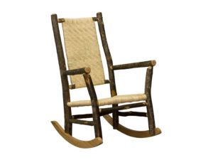 Hickory Grandpa Rocker with Caned Seat and Back