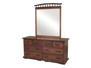 Hickory Heritage Collection Dresser with Mirror