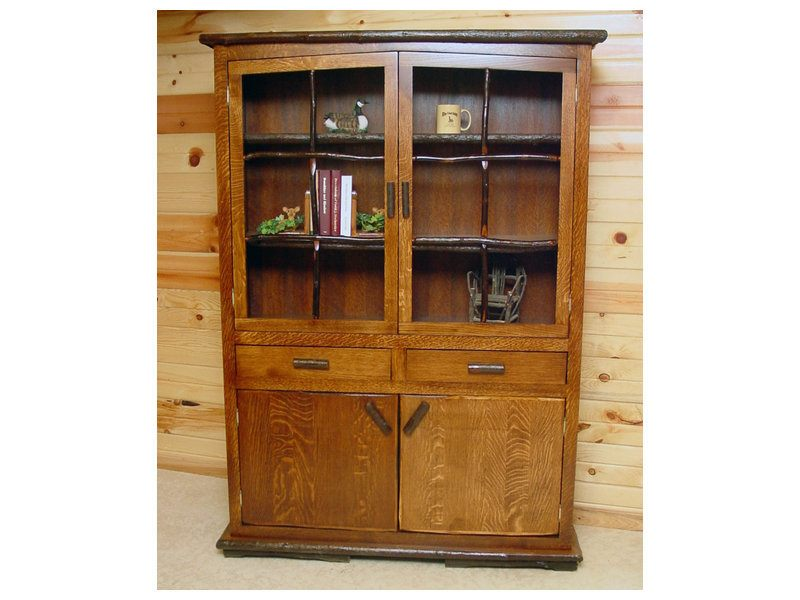 Amish Hickory Hilltop Hutch Brandenberry Amish Furniture