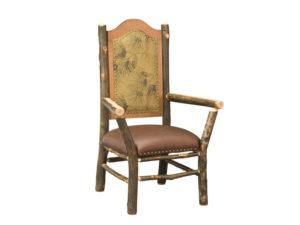 "Hickory Hoosier ""Captain"" Chair with Fabric"