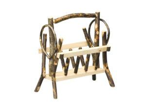 Hickory Magazine Rack Basket