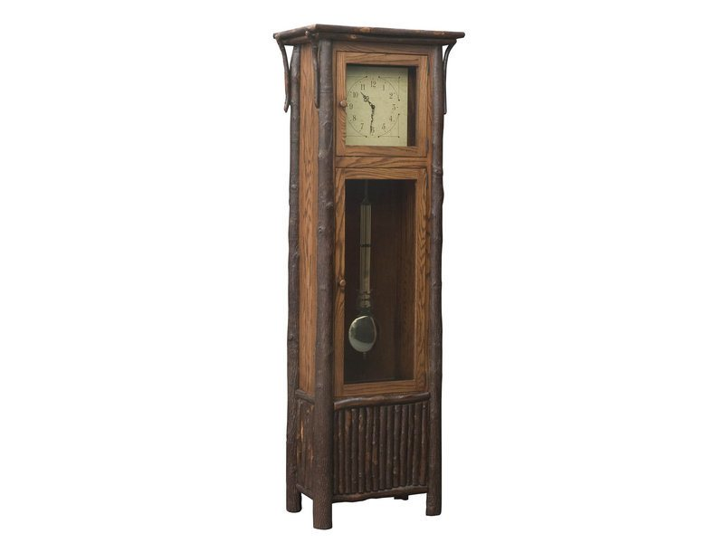 Hickory Old Country Grandfather Clock with Pendulum
