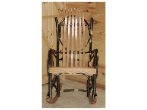 Hickory Rocker with Red Oak Back and Seat