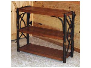 Hickory Three Shelf Stand