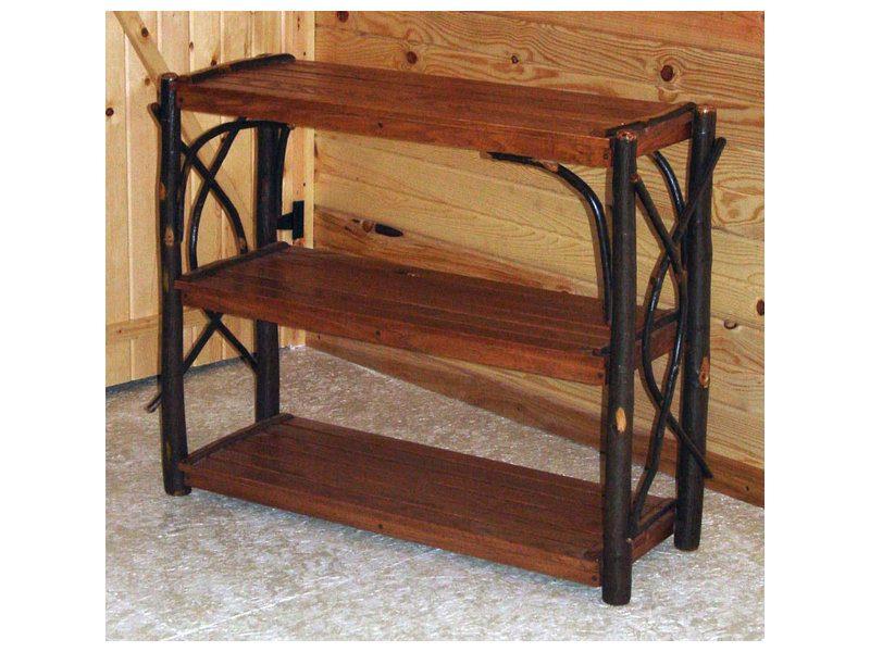 Hickory Three Shelf Stand