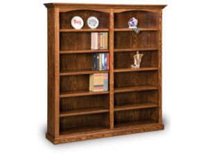 Hoosier Heritage 10 Shelf Double Bookcase