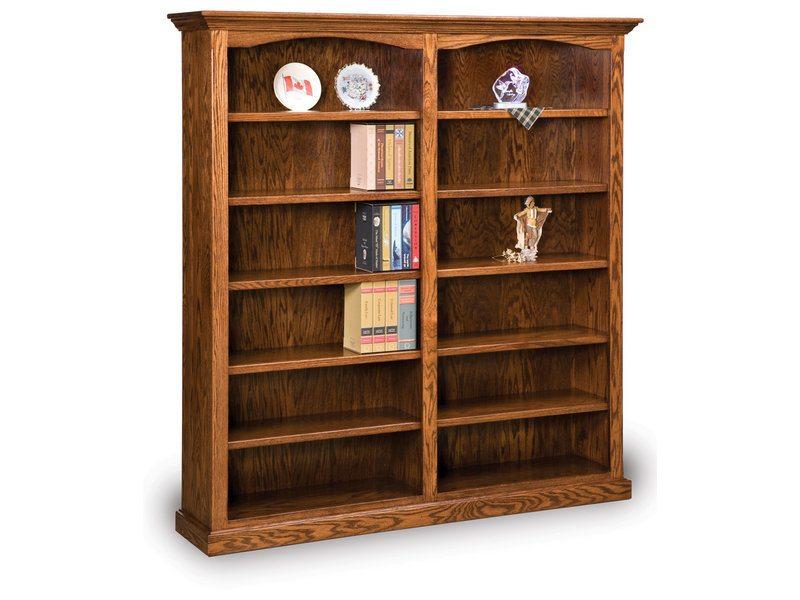 Hoosier Heritage 10 Shelf Double Bookcase