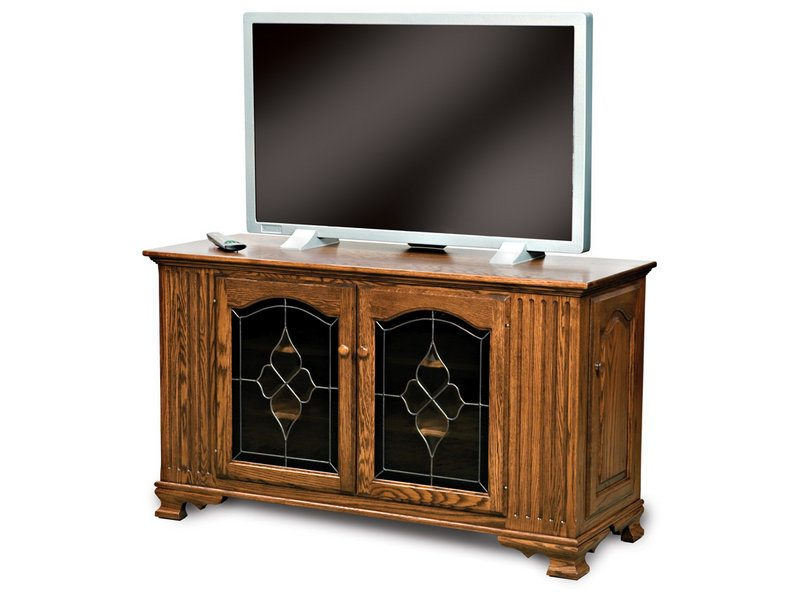 Hoosier Heritage Four Door LCD Stand with Leaded Glass