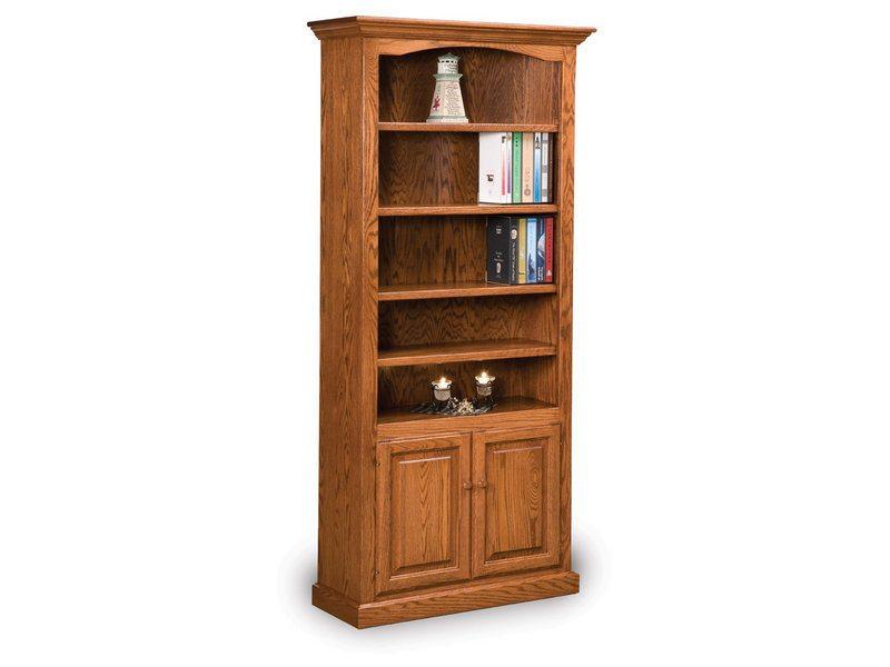 Hoosier Heritage Four Shelf, Two Door Bookcase