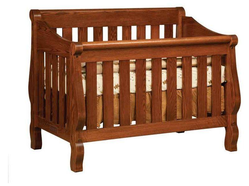 Hoosier Sleigh Convertible Crib