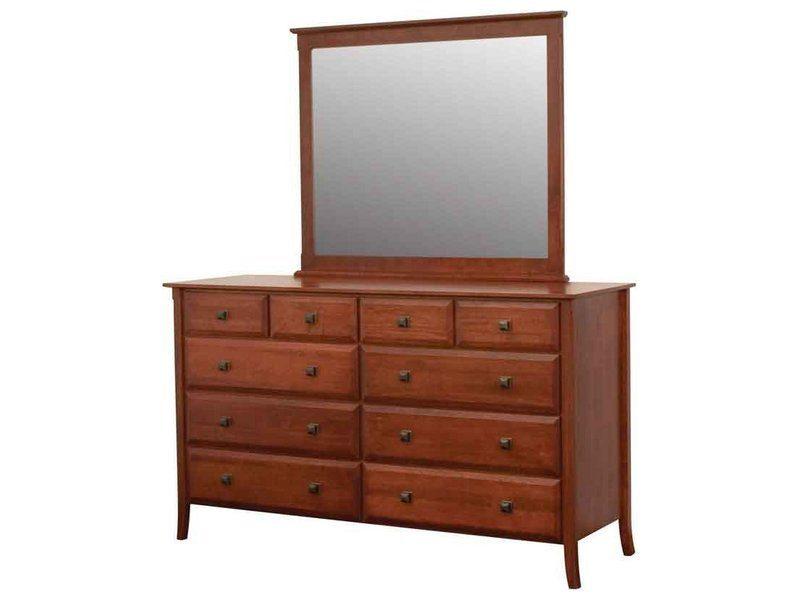 Hudsonville Ten Drawer Dresser with Mirror