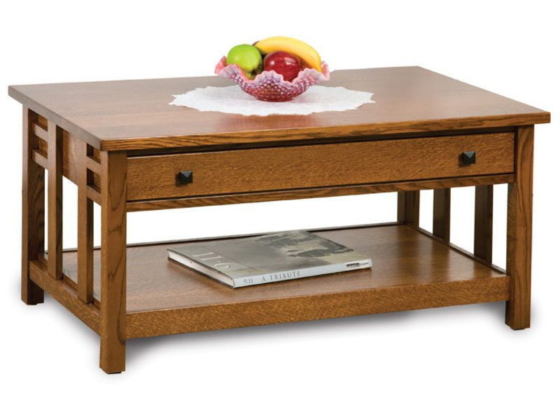 Kascade Open Coffee Table With Kascade Open Coffee Table With Drawer Amish Direct Furniture