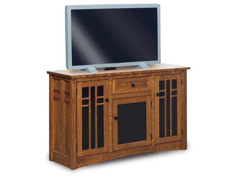 Amish Kascade Three Door, One Drawer LCD Console