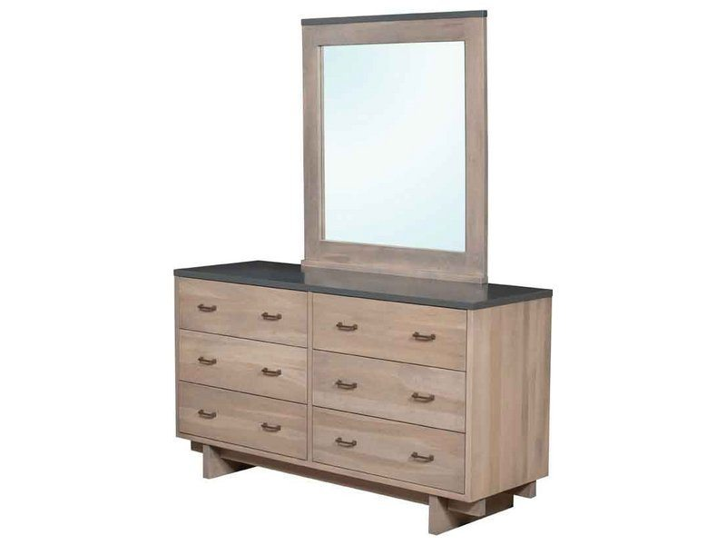 Kashima Six Drawer Dresser with Mirror