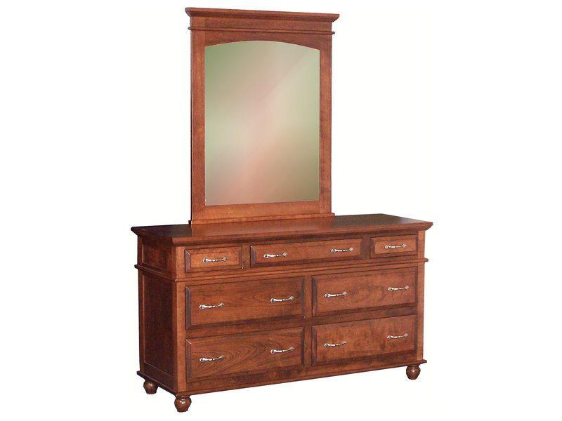 Kountry Treasure Seven Drawer Dresser with Mirror