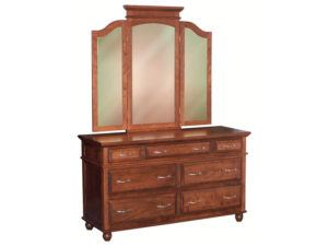 Kountry Treasure Seven Drawer Dresser with Tri-View Mirror