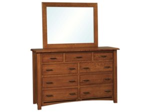 Lavega Nine Drawer Dresser with Mirror