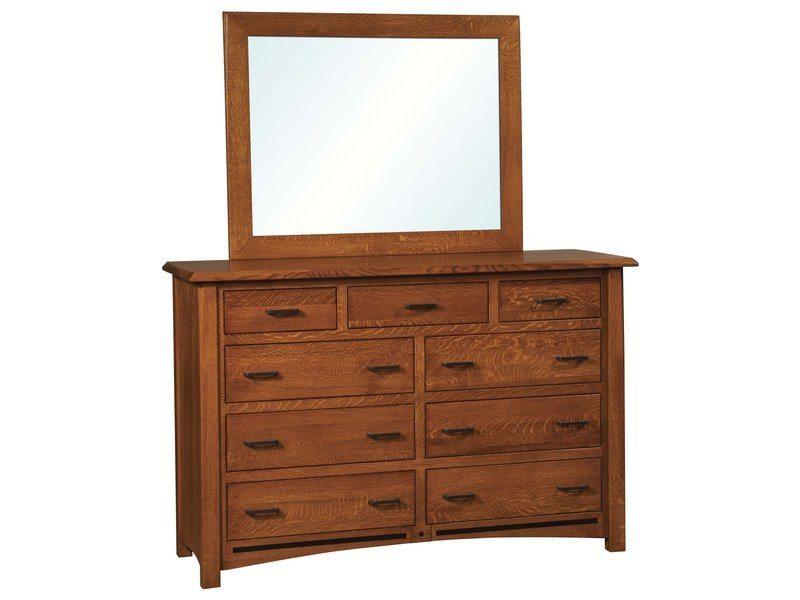 Lavega Nine Drawer Dresser with Mirror