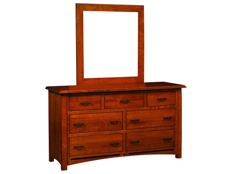 Lavega Seven Drawer Dresser with Mirror