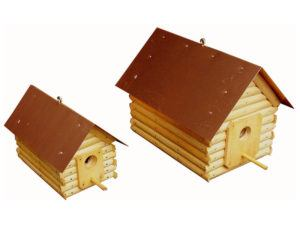 Log Cabin Birdhouse (Large and Small)