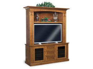 Manhattan Mission Two-Piece Home Theater Entertainment Center