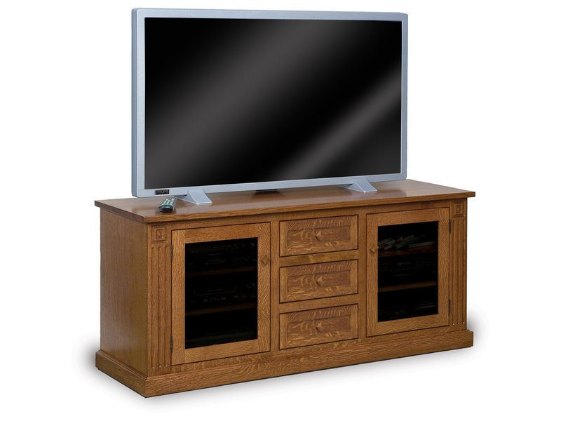 Manhattan Mission Two Door, Three Drawer LCD Stand