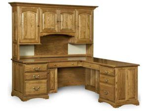 Mannington L Desk with Hutch