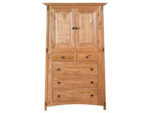 McCoy Five Drawer, Two Door Armoire