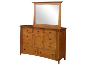 McCoy Nine Drawer, One Door Dresser
