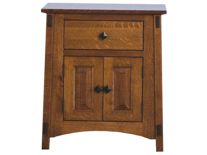 McCoy One Drawer, Two Door Nightstand