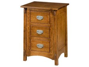 McCoy Three Drawer Bedside Chest