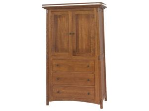 McCoy Three Drawer, Two Door Armoire