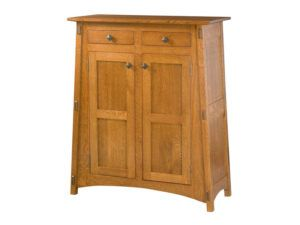 McCoy Two Door Cabinet with Reverse Panels