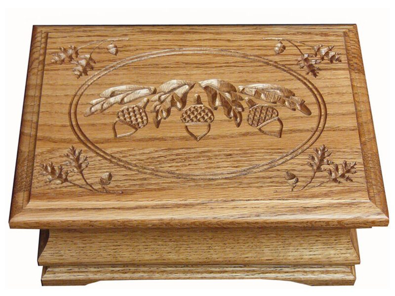 Medium Jewelry Box with Acorn Engraving