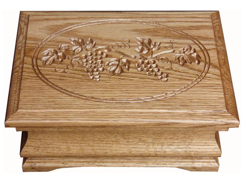 Medium Jewelry Box with Grapes Engraving