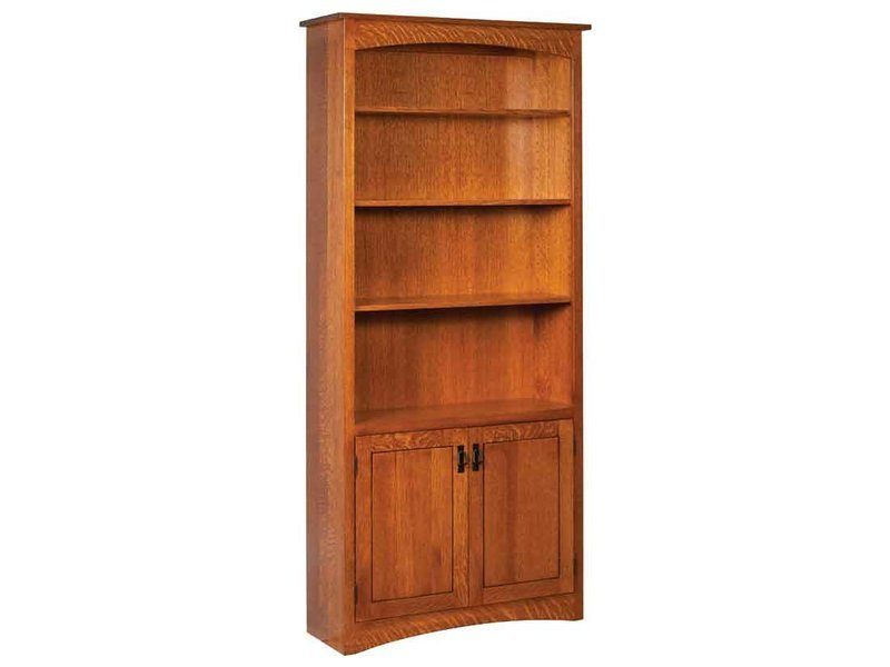 Mission Bookcase with Doors