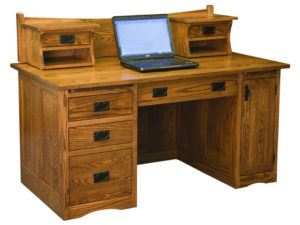 Mission Desk with Small Hutch