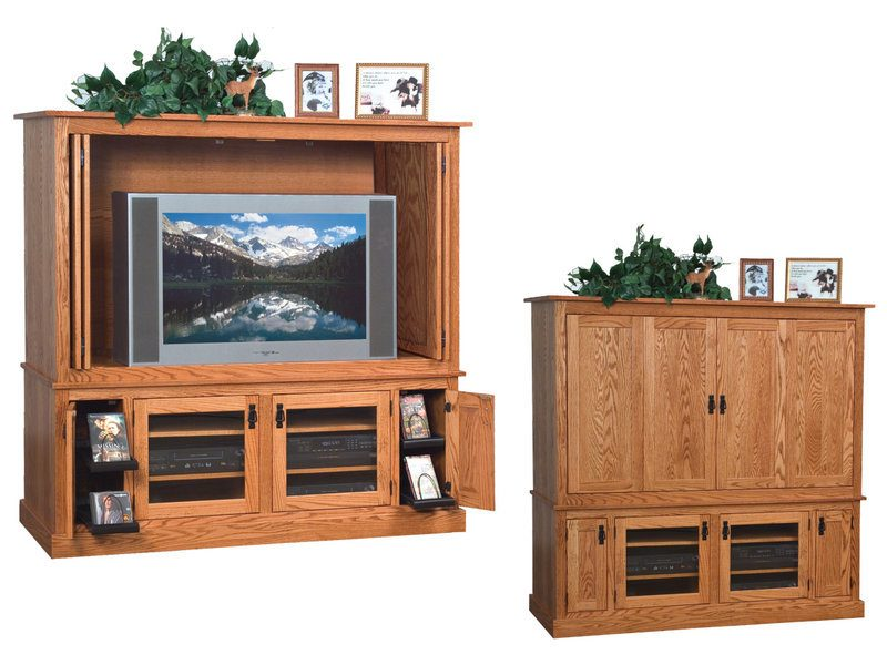 Amish Mission Large Widescreen TV Cabinet