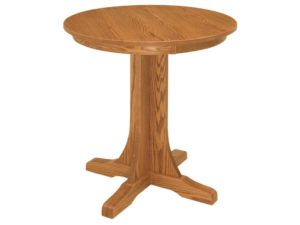 Mission Single Pedestal Pub Table
