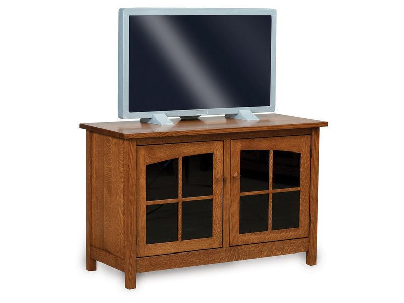 Amish Mission Two Door LCD Stand