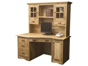 Mission Wedge Desk with Hutch